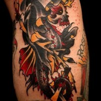 Amazing idea of death tattoo
