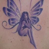 Amazing beautiful fairy tattoo
