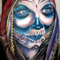 Amazing day of the dead tattoo