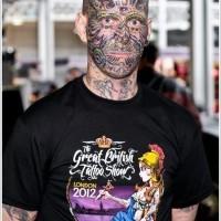 incredibile disegno su faccia tatuaggio per uomo