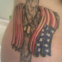 American army patriotic tattoo