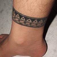 bel idea bracciale inchiostro nero tatuaggio su caviglia per ragazzi