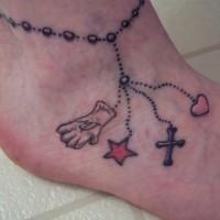bel braccialettosu caviglia celtico tatuaggio colorato per ragazze