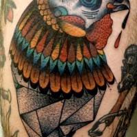 eccezionale gallo colorato tatuaggio per ragazzi