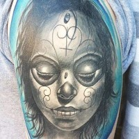 Awesome day of the dead girl tattoo