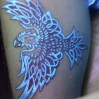 Awesome eagle black light style tattoo