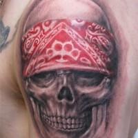 Awesome idea of biker tattoo on shoulder
