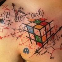 eccezionale idea disadattato tatuaggio su petto di uomo