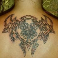Awesome knot tattoo on back for men