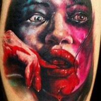 Awesome night terrors girl horror tattoo