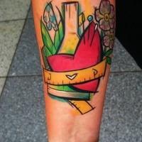 Awesome vivid colors forearm tattoo