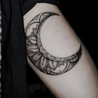 bellissima patchwork luna tatuaggio