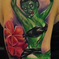 Beautiful pin up zombi girl tattoo by Chubbuck