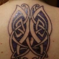 Beautiful purple celtic butterflies tattoos for lady