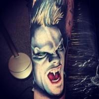 Beautiful vampire horror tattoo