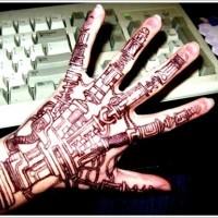 Biomechanical tattoo on wrist