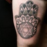 Black ink medium size Egypt themed tattoo interesting hand