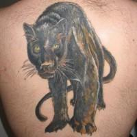 pantera nera a passeggio tatuaggio