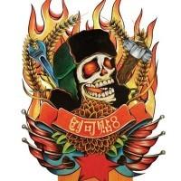 cranio cinese e fuoco tatuaggio