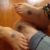 Clover irish friendship tattoos on legs