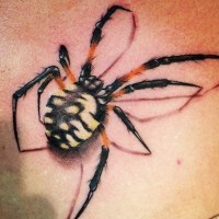 Colorful spider tattoo