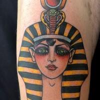 Coloured egyptian tattoo on arm