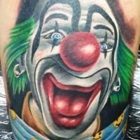 colorato divertente pagliaccio allegro tatuaggio