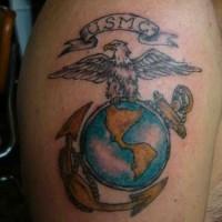 Coloured usms symbol tattoo