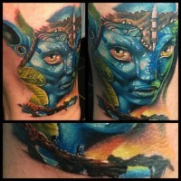 Tatuaje  de Avatar precioso 3D detallado
