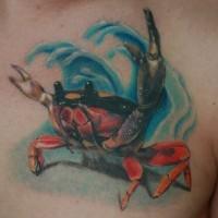 Coole Krabbe Tätowierung für deine Brust