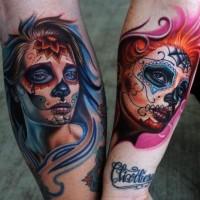 Cool idea of santa muerte tattoo for men and girls