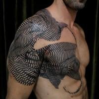 bel idea particolare tatuaggio per uomo