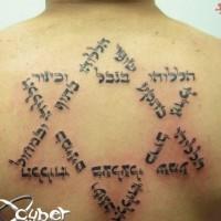 fresca idea di stella da David tatuaggio