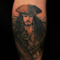 Cooles Tattoo vom Jack Sparrow