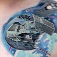 Tatuaje en el hombro, nave imperial estupendo de la guerra de las galaxias