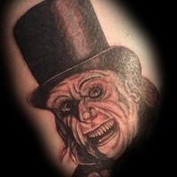 Cool vintage horror movie tattoo of detailed gentleman monster