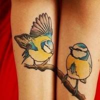 bei uccelli amicizia tatuaggio su due braccia