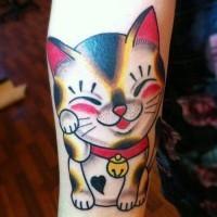 bel gatto divertente tatuaggio colorato