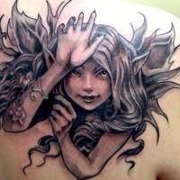 carino fata birichina tatuaggio