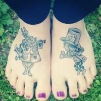 bel disegno animato su due piede  di ragazza