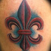 bordo scuro fleur de lis tatuaggio