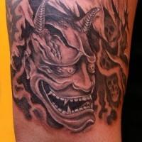 Demon and skulls tattoo by fiesta