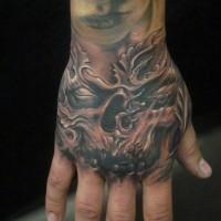Demon hand tattoo by hatefulss