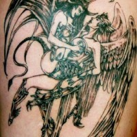 Dissolute angels and demons tattoo