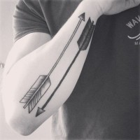 Double indian arrow tattoos for women and men