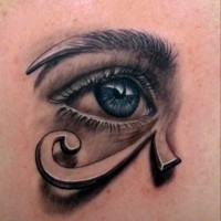 Egyptian eye tattoo