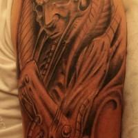 Egyptian mummy tattoo on arm