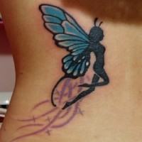Elegante Schmetterling-Fee Tattoo