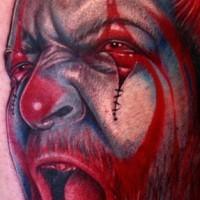 Evil clown juggalo 3d tattoo