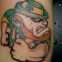 Evil Irish Leprechaun Tattoo Tattooimagesbiz